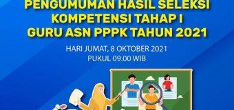 Pengumuman Hasil Seleksi Guru ASN PPPK